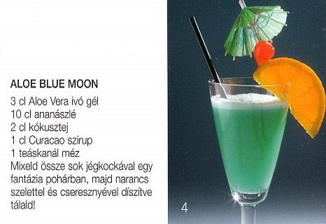 Aloe Blue Moon moktél